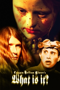 "Poster forCrispin Hellion Glover's ""What is it?""(Actors pictured are Crispin Glover, Kelly Swiderski & Ricky Wittman)"